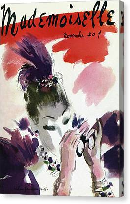 Mademoiselle Cover Featuring A Woman Looking Canvas Print