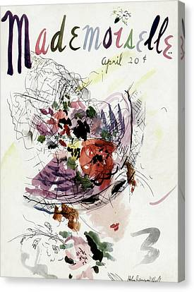 Mademoiselle Cover Featuring An Illustration Canvas Print by Helen Jameson Hall