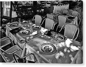 Canvas Print featuring the photograph Madera Table For Lunch by Rick Bragan