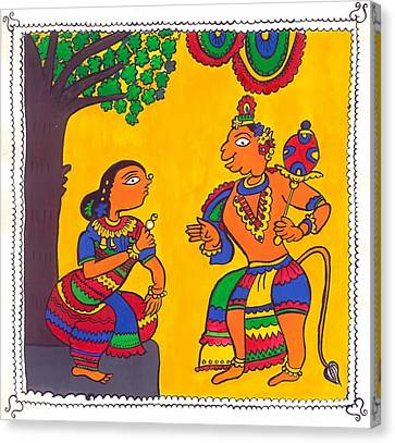 Madhubani Painting Canvas Print by Shruti Bhagwat