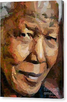 Madiba Canvas Print by Dragica  Micki Fortuna