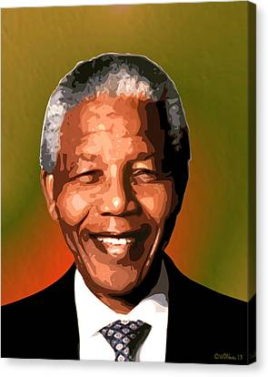 Madiba Canvas Print by Walter Oliver Neal