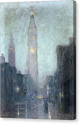 Madison Avenue At Twilight Canvas Print