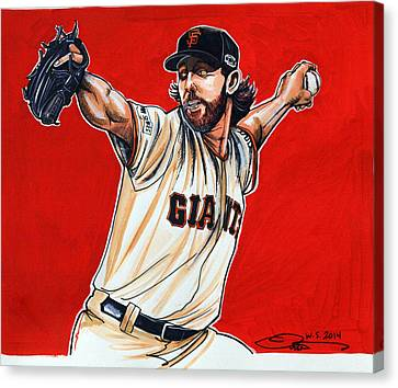 Madison Bumgarner World Series Mvp Canvas Print by Dave Olsen