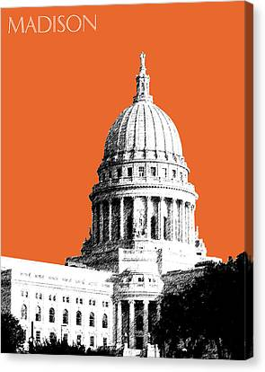 Madison Capital Building - Coral Canvas Print by DB Artist