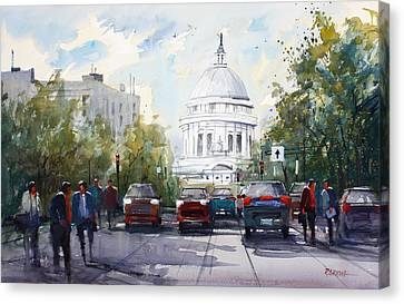 Madison - Capitol Canvas Print by Ryan Radke