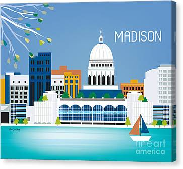 Madison Canvas Print by Karen Young