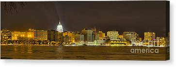 Madison - Wisconsin City  Panorama - No Fireworks Canvas Print by Steven Ralser