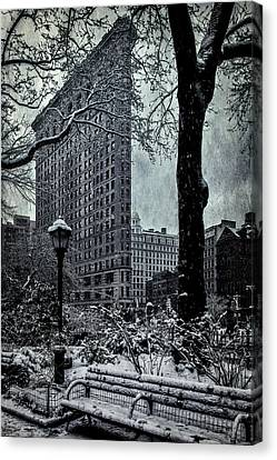 Madison Square And The Flatiron Building Canvas Print by Chris Lord