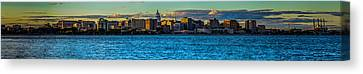 Madison Twilight Panorama Canvas Print