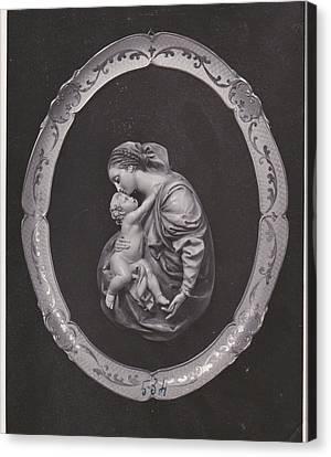 Madonna And Child Canvas Print by Allan Koskela