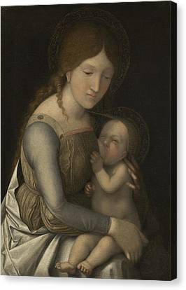 Madonna And Child Canvas Print by Andrea Mantegna