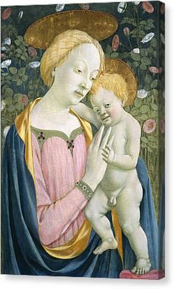 Madonna And Child Canvas Print by Domenico Veneziano