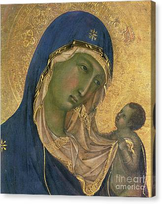 Madonna And Child  Canvas Print by Duccio di Buoninsegna