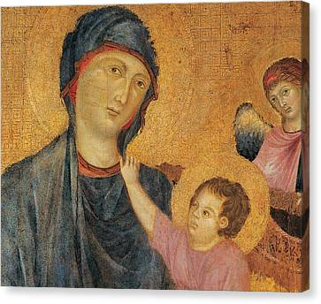 Madonna And Child Enthroned  Canvas Print by Cimabue