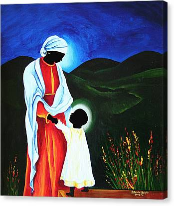 Madonna And Child  First Steps Canvas Print by Patricia Brintle
