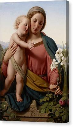 Madonna And Child Canvas Print by Franz Ittenbach