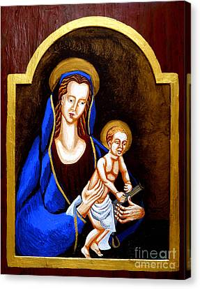Gold Star Mother Canvas Print - Madonna And Child by Genevieve Esson