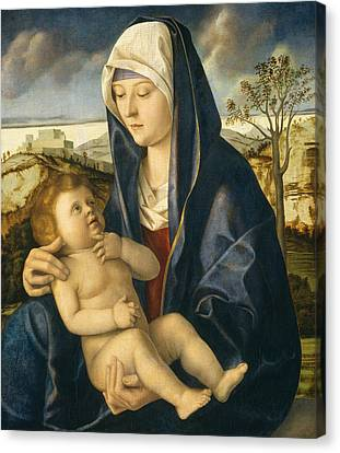 Madonna And Child In A Landscape Canvas Print