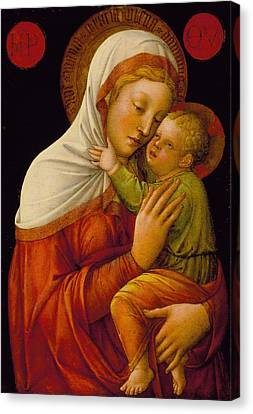 Madonna And Child Canvas Print by Jacob Bellini