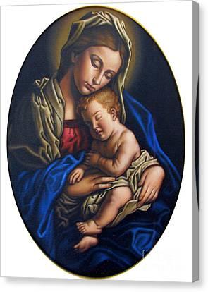 Madonna And Child Canvas Print by Jane Whiting Chrzanoska