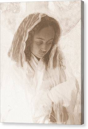 Canvas Print featuring the photograph Madonna And Child by Jodie Marie Anne Richardson Traugott          aka jm-ART