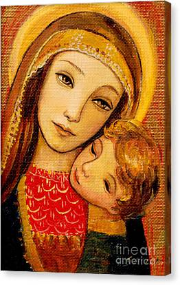 Madonna And Child Canvas Print by Shijun Munns