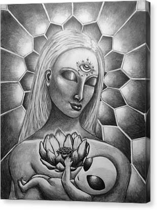 Madonna And Child Canvas Print by Tai Hicks