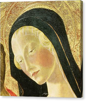 Detail Of The Madonna Canvas Print by Neroccio di Landi