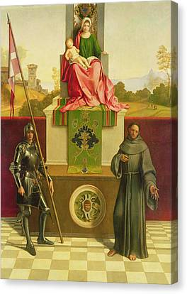 Armor Canvas Print - Madonna And Child With Saints Liberale And Francis by Giorgione