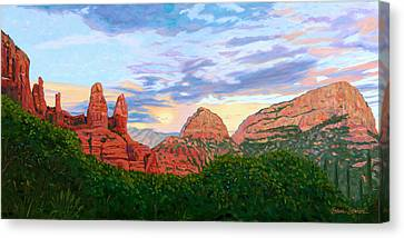 Madonna And Nuns - Sedona Canvas Print