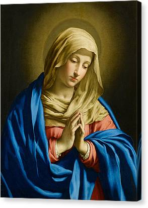 Saint Hope Canvas Print - Madonna At Prayer by Giovanni Battista Salvi