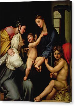 Madonna Dell'impannata Canvas Print by Raphael