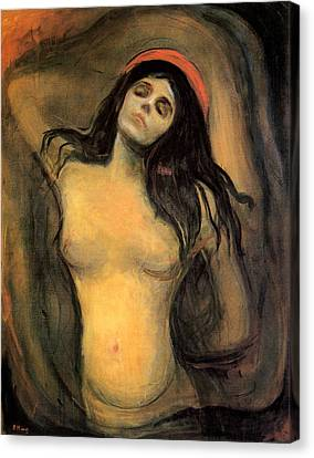 Madonna Canvas Print by Edvard Munch