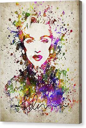 Madonna In Color Canvas Print by Aged Pixel