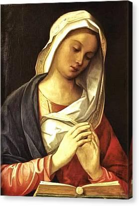 Madonna In Prayer Canvas Print by Unknown