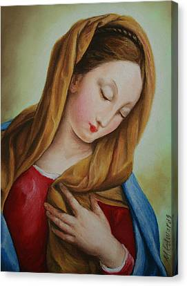Madonna Canvas Print by Marna Edwards Flavell