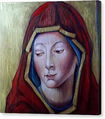 Madonna Of Peace Canvas Print
