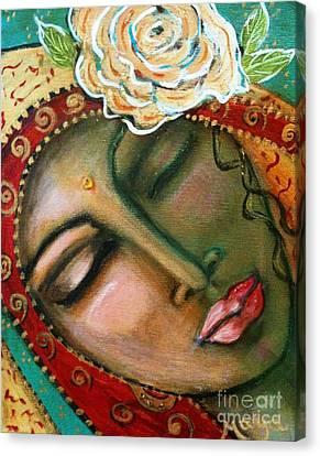 Divine Breath Canvas Print - Madonna Of The First Breath by Maya Telford