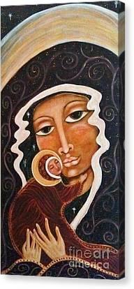Madonna Of The Milky Way Canvas Print by Maya Telford