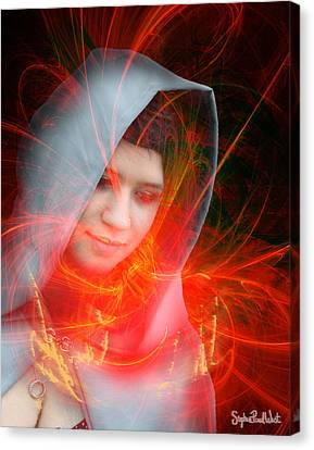 Madonna Of The Stars Canvas Print by Stephen Paul West