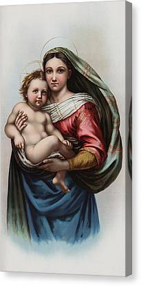 Madonna Canvas Print by Raphael
