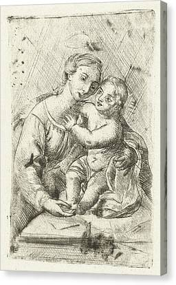 Madonna With Child, Louis Bernard Coclers Canvas Print by Louis Bernard Coclers And Rafa?l