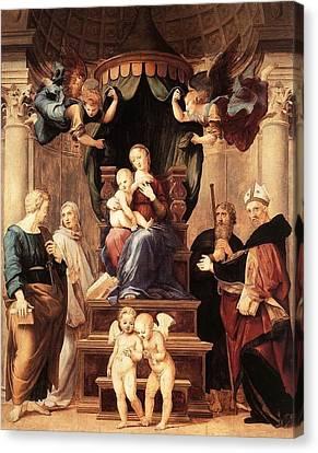 Palatina Canvas Print - Madonna With The Baldachino by Raffaello Sanzio