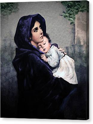 Canvas Print featuring the painting Madonnina by A Samuel