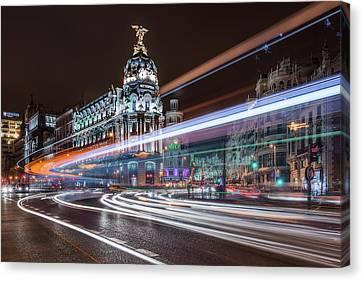 Madrid Traffic Canvas Print