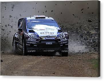 Mads Ostberg Fia World Rally Championship Australia Canvas Print