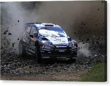 Mads Ostberg Fia World Rally Champonship Australia Canvas Print