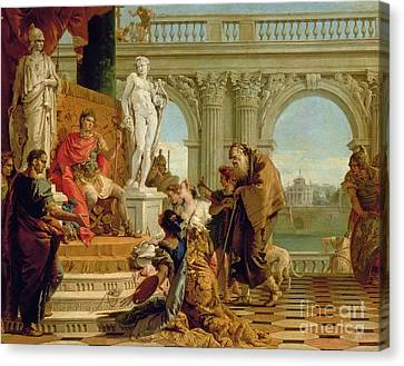 Maecenas Presenting The Liberal Arts To The Emperor Augustus Canvas Print