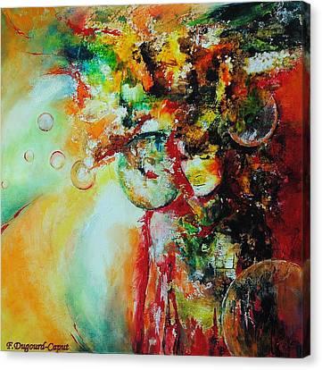 Maelstrom Canvas Print by Francoise Dugourd-Caput